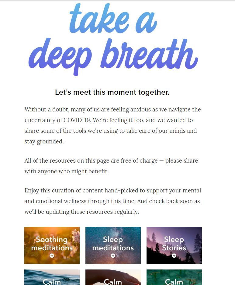 """Take a deep breath"" campaign"