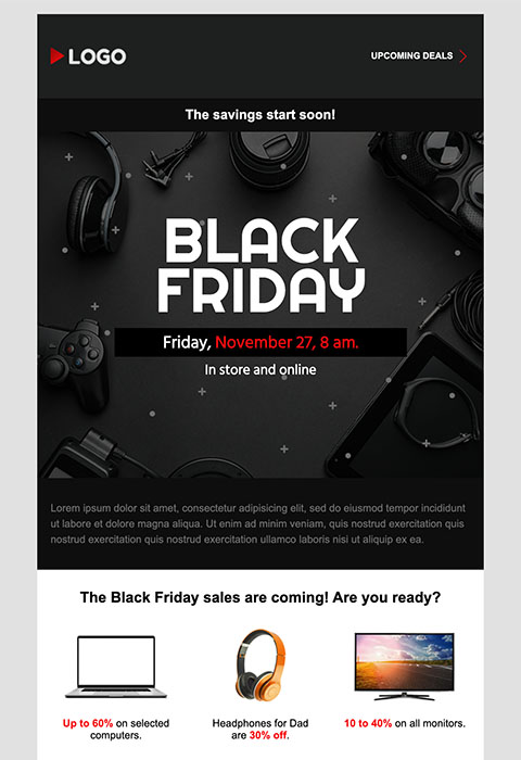 E-mail 1 - Black friday
