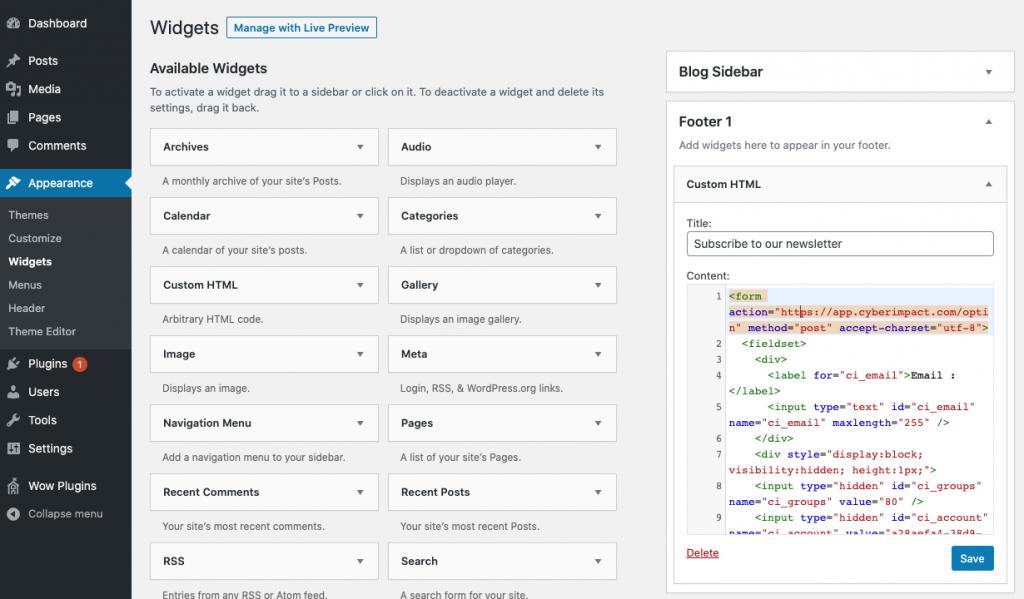 Widgets - WordPress
