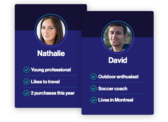 Nathalie and David's profil